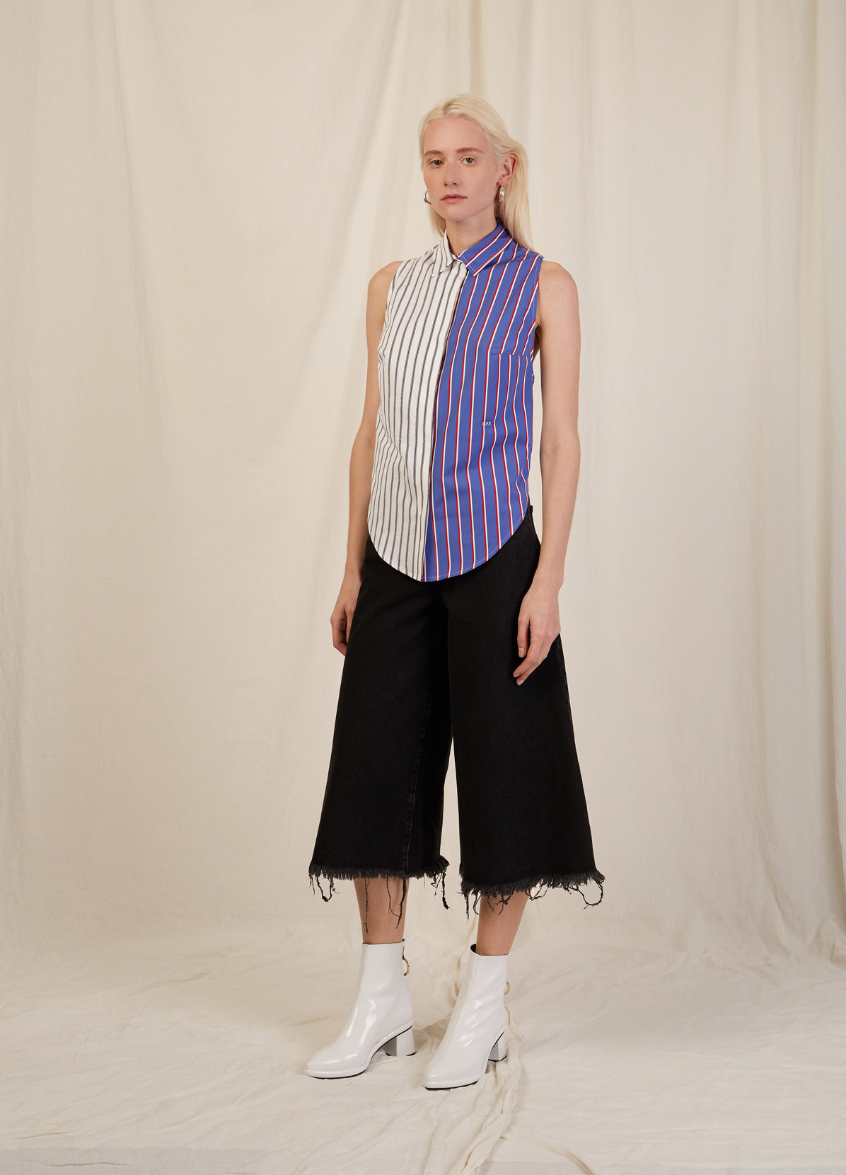 STRIPE APRON SHIRT