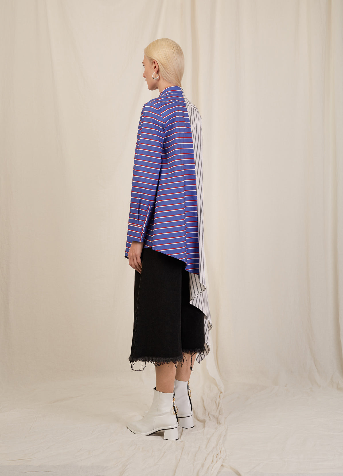 STRIPE ASYMMETRICAL SHIRT