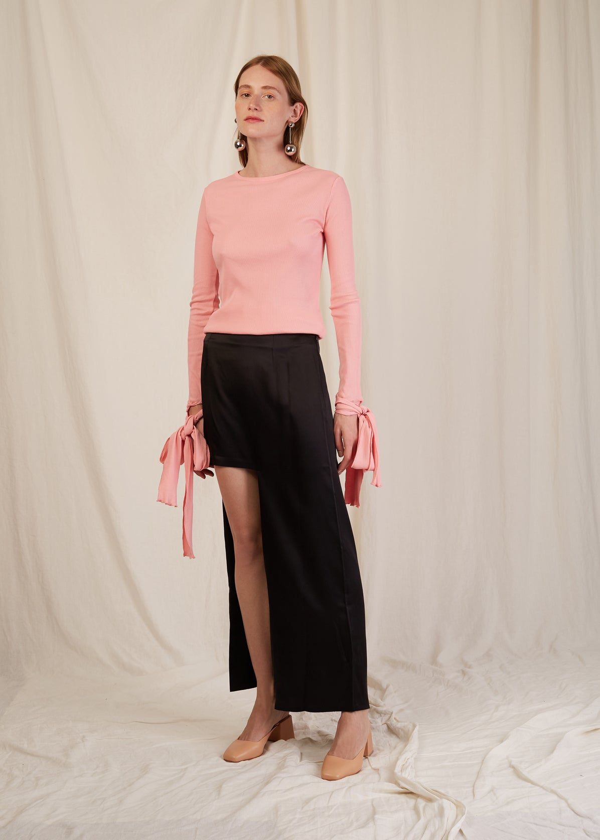ASYMMETRIC BONDED SKIRT