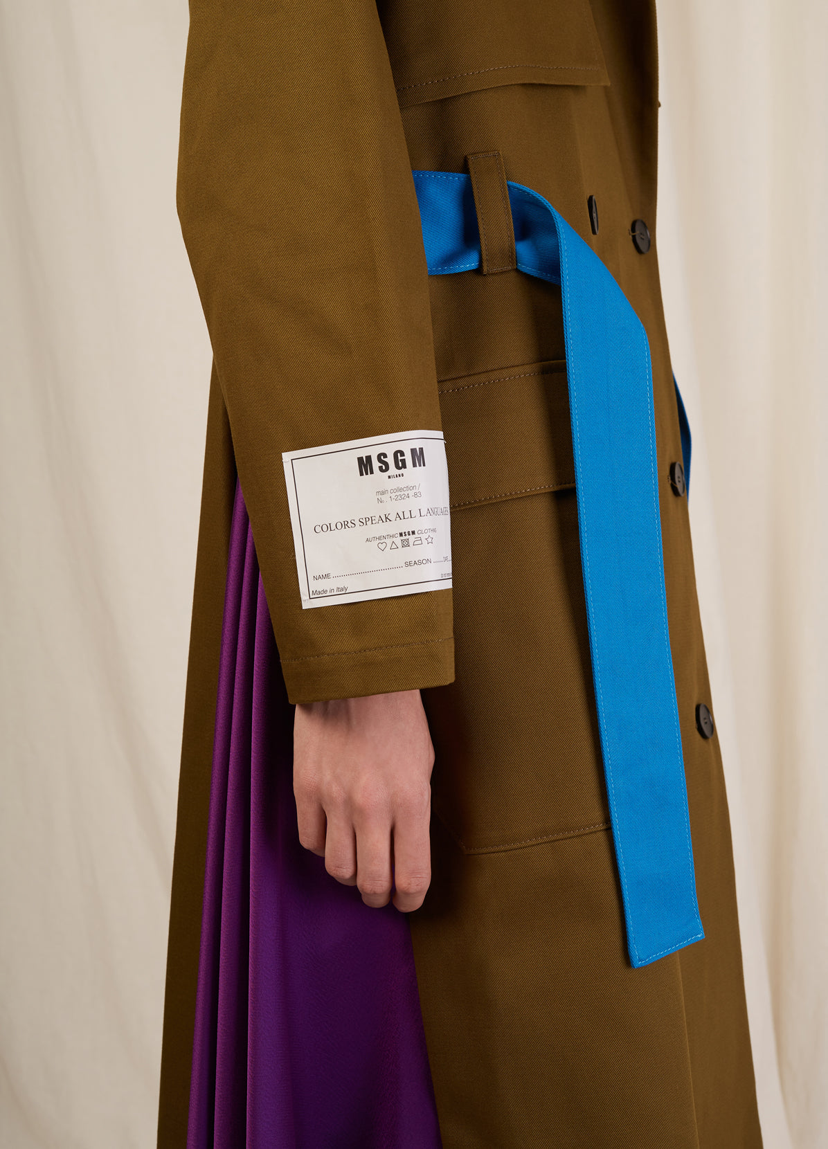 COLOR BLOCK TRENCH