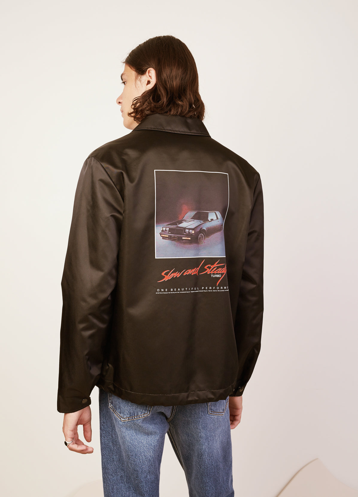 SLOW AND STEADY PRINTED COACHS JACKET