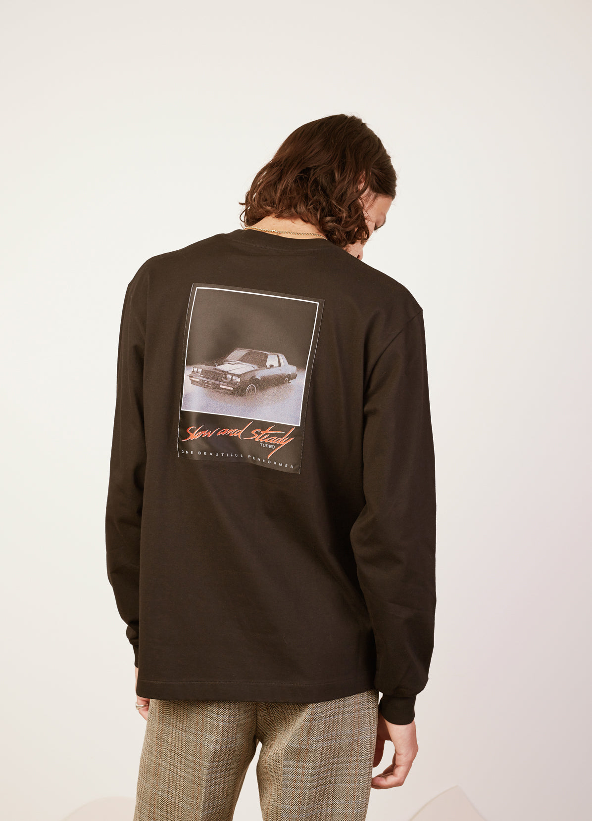 SLOW AND STEADY PATCH LONG SLEEVED TEE