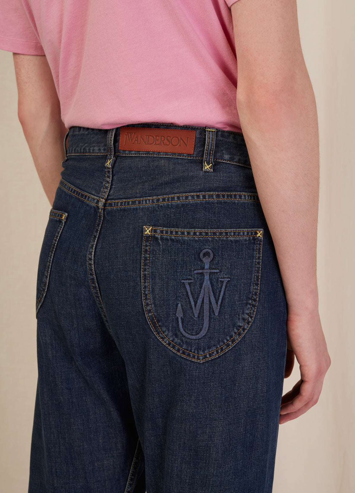 FOLD FRONT JEANS