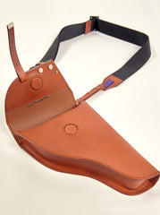 WESTERN STYLED GUN BAG MADE OF WHOLE LEATHER