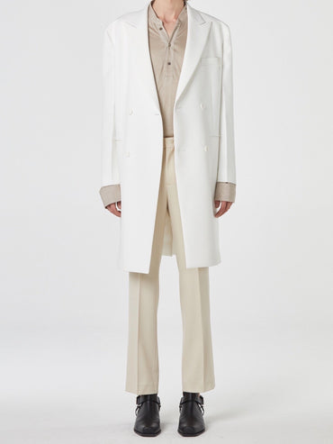 WHITE DOUBLE COAT