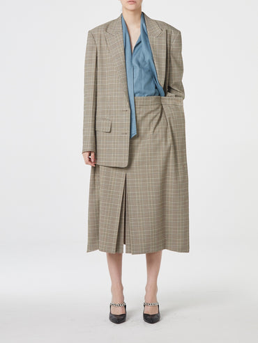 LIGHT BEIGE CHECK BLAZER
