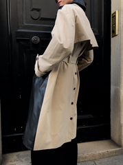 LEATHER PANEL TRENCH