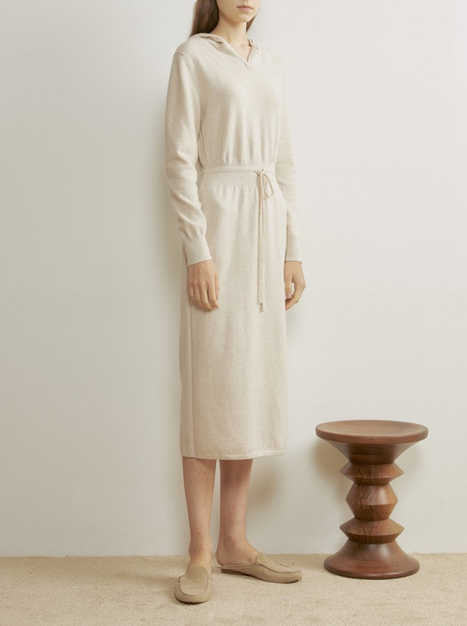 OATMEAL KNITTED DRESS