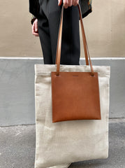 POCKET FLAT SHOPPER MD TAN