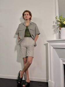 KHAKI BEIGE SHORT-SLEEVES SHIRTS