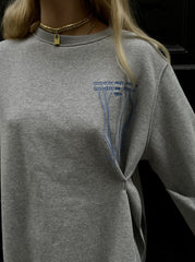 PINCH DETAIL LOGO SWEATER