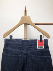 DENIM WITH EYELETS AND LOGO PATCH