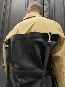 BI-MATERIAL BACKPACK JACKET