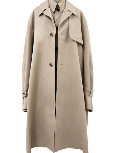 DOUBLE TRENCH COAT