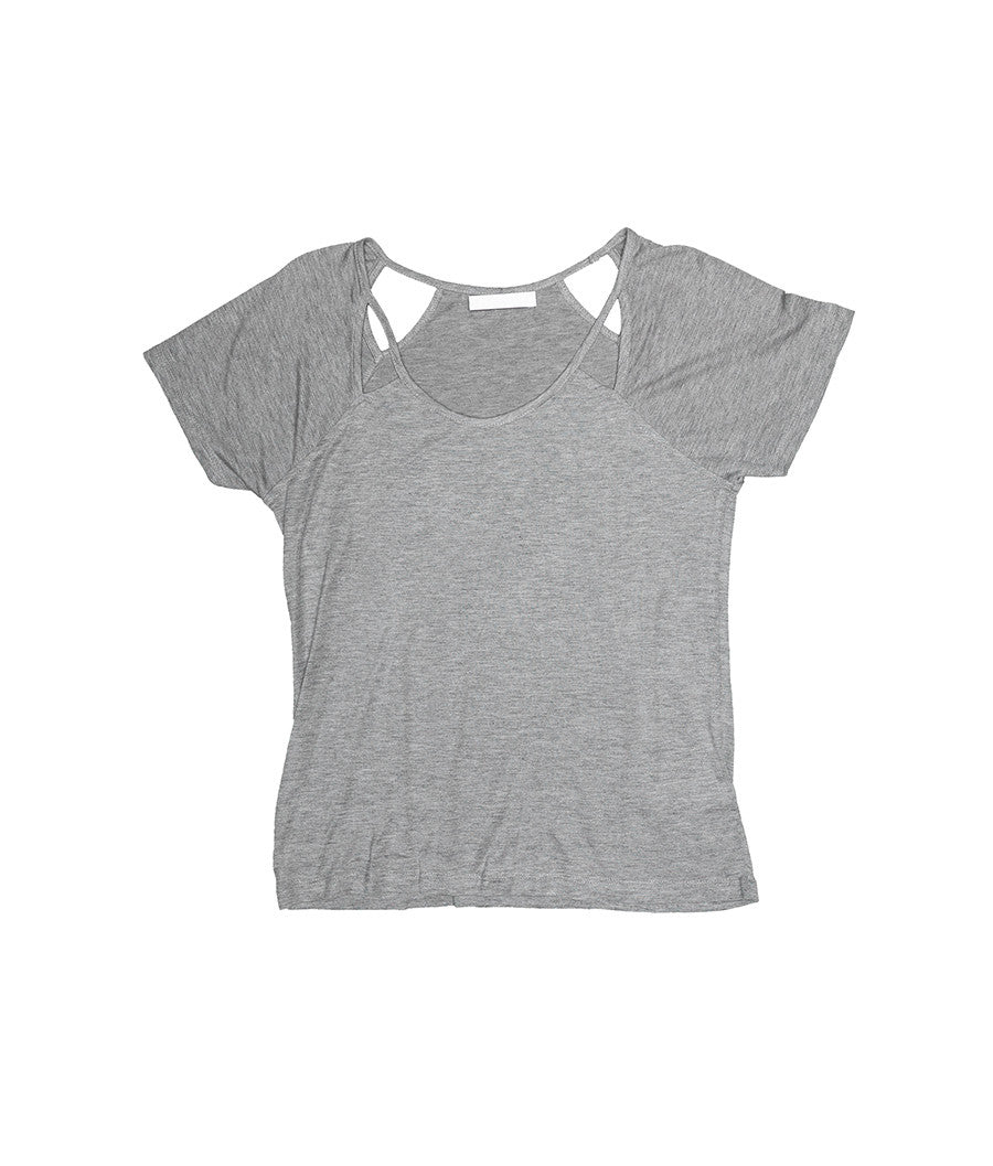 Graisna gray Top