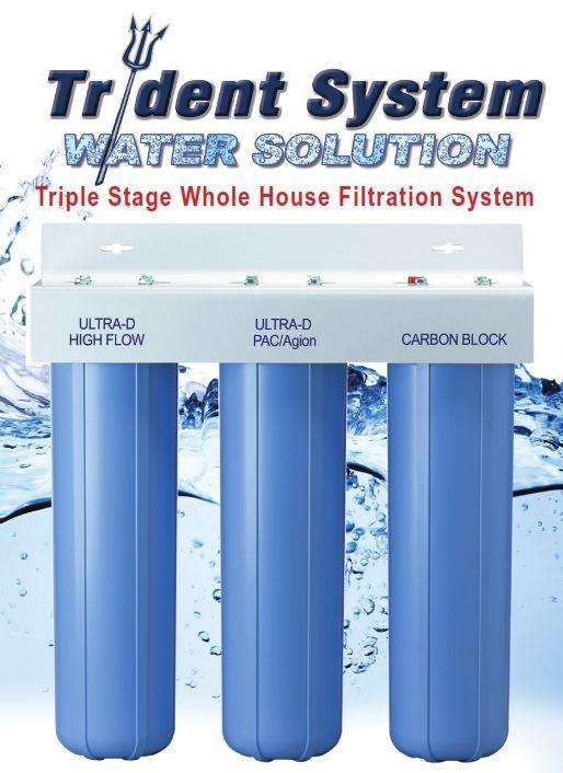 AlkaViva Trident 3-Stage Whole House Filter Optimum Chlorine Removal