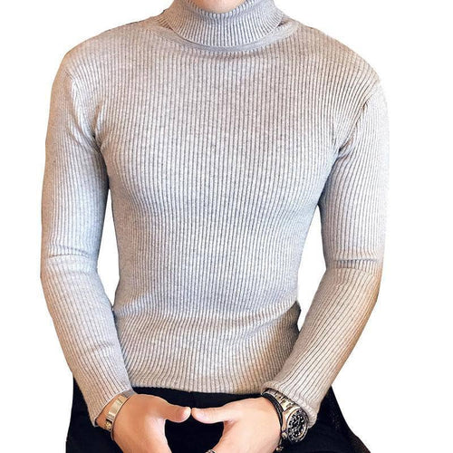 2017 Fashion Mens Turtleneck Sweaters Pullover Male Autumn Winter Slim Fit Sweater Trendy Black Turtle Neck Knitted Pullovers