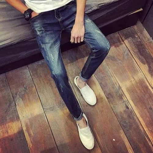 2017 New Arrival Fashion Autumn&Winter Style Men Jeans Slim Good Elasticity Casual Wear