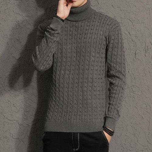 2017 New Autumn Men Brand Casual Sweater Turtleneck Striped Slim Fit Knitting Mens Sweaters And Pullovers Men Pullover M-5XL