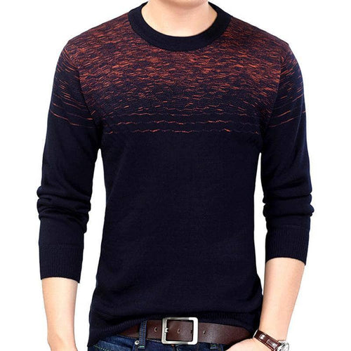 2017 brand male pullover sweater men knitted jersey winter thick striped sweaters mens knitwear clothes camisa masculina 6329