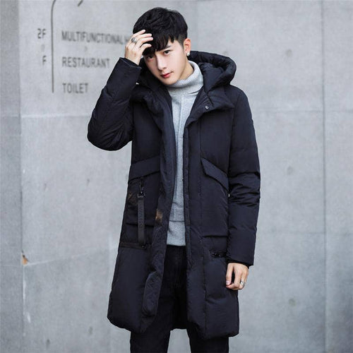 Long Thick Warm Parka Casual Winter Jacket Men