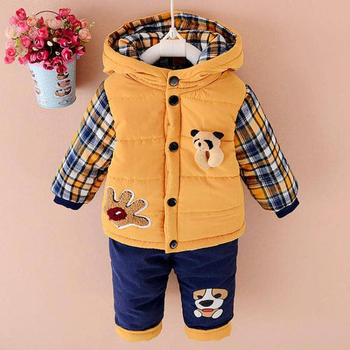 Baby Boys Winter Clothing Set Down Parkas For