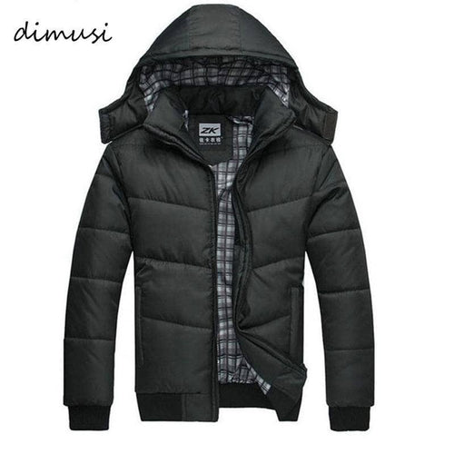 DIMUSI 2017 Jacket Men Winter Jacket Big Size M-4XL New Arrival Casual Slim Cotton With Hooded Parkas Casaco Masculino ,YA294