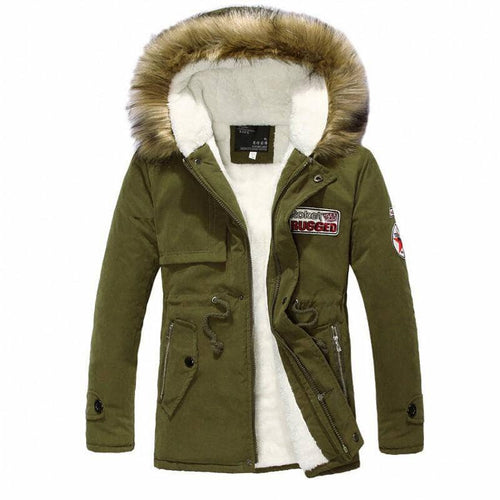 Hot New Winter Men Casual Cotton Hooded Parka