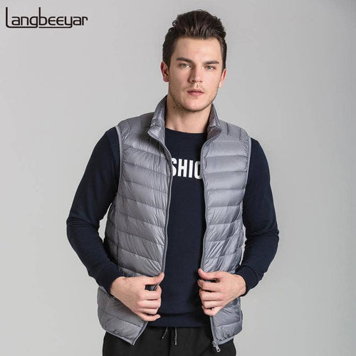 New Fashion Brand Clothing Duck Down Jacket Men High-quality Winter Jacket Men Parka Sleeveless Mens Winter Jackets And Coats