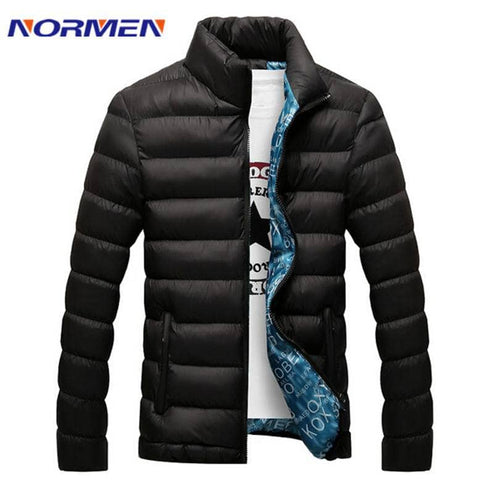 Normen Brand Clothing Newest Men'S Solid Parkas