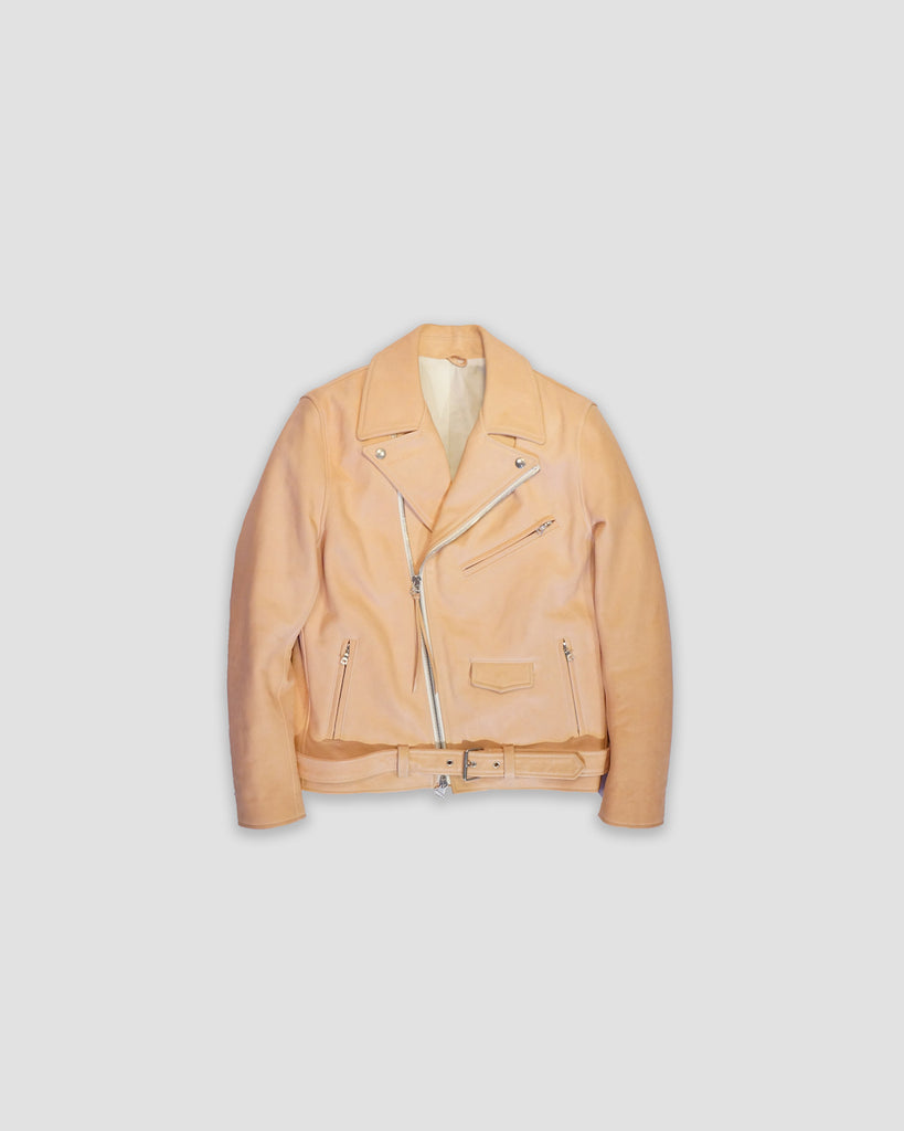 RUNE VEG TAN LEATHER MOTO JACKET