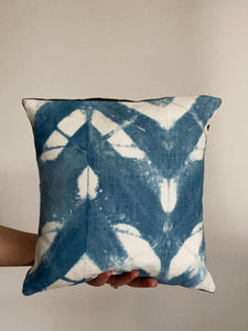 INDIGO/SHIBORI PILLOW 12""