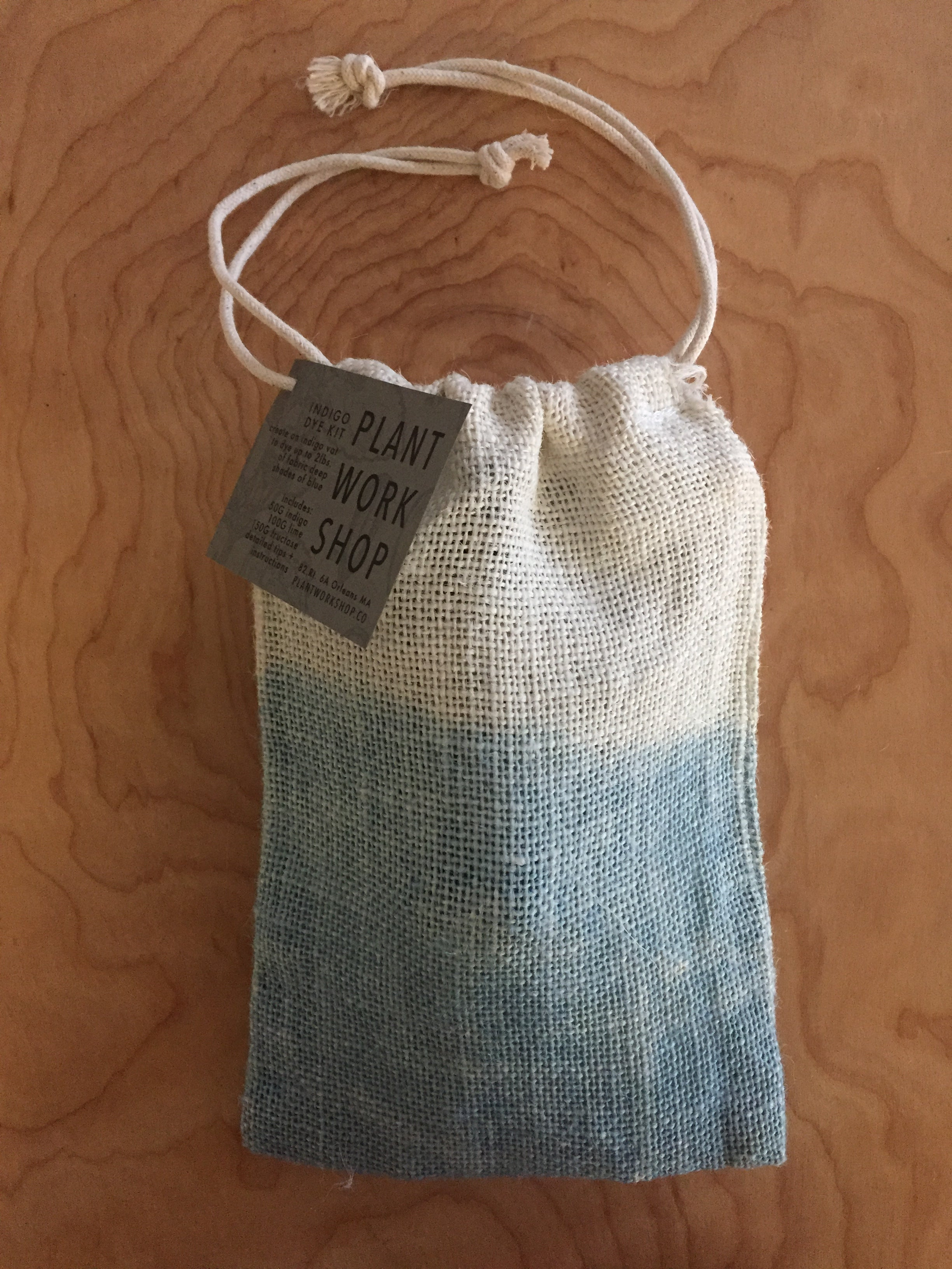 WORKSHOP: dyeing with an indigo vat