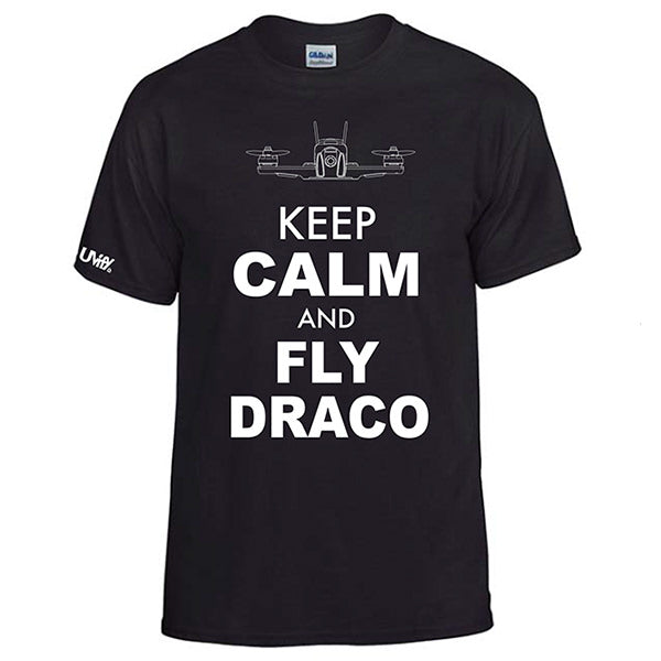 "UVify T-shirt ""Keep Calm and Fly Draco"""