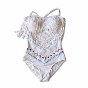 One Piece with Fringe - White