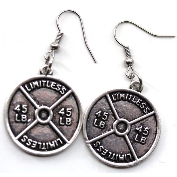 45lb Plate Earrings