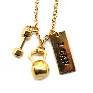 I Can Kettlebell and Dumbbell Necklace