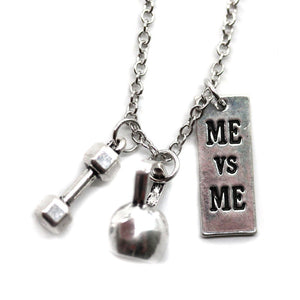 Me Vs Me Kettlebell and Dumbbell Necklace