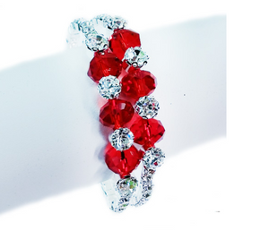 Red Crystal Wrap Competition Bracelet