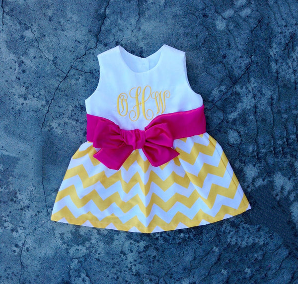 008ef1d5f582 Infant dresses, monogrammed girls dress, baby girl outfit, toddler girl  clothes, personalized