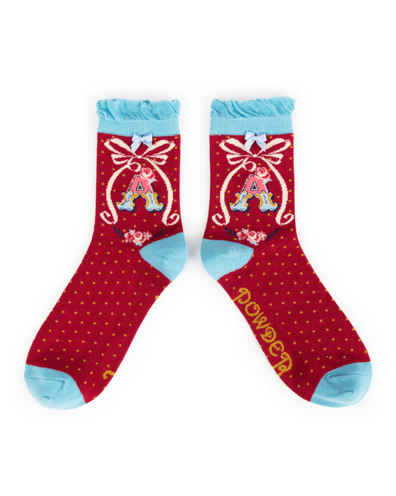 Bamboo Monogram Alphabet Socks