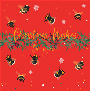 Belly Button Design Christmas Wishes to You Bees