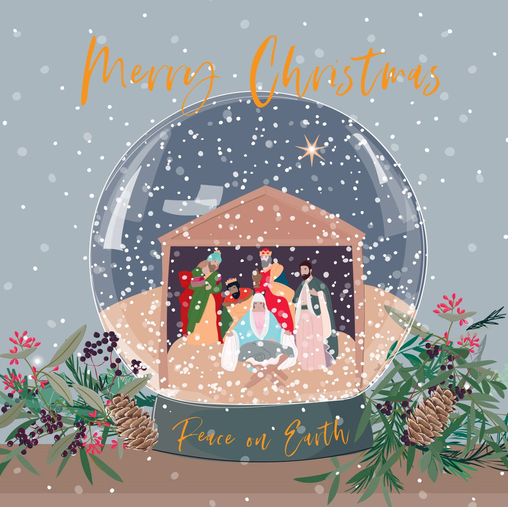 Belly Button Design Merry Christmas Peace on Earth Card