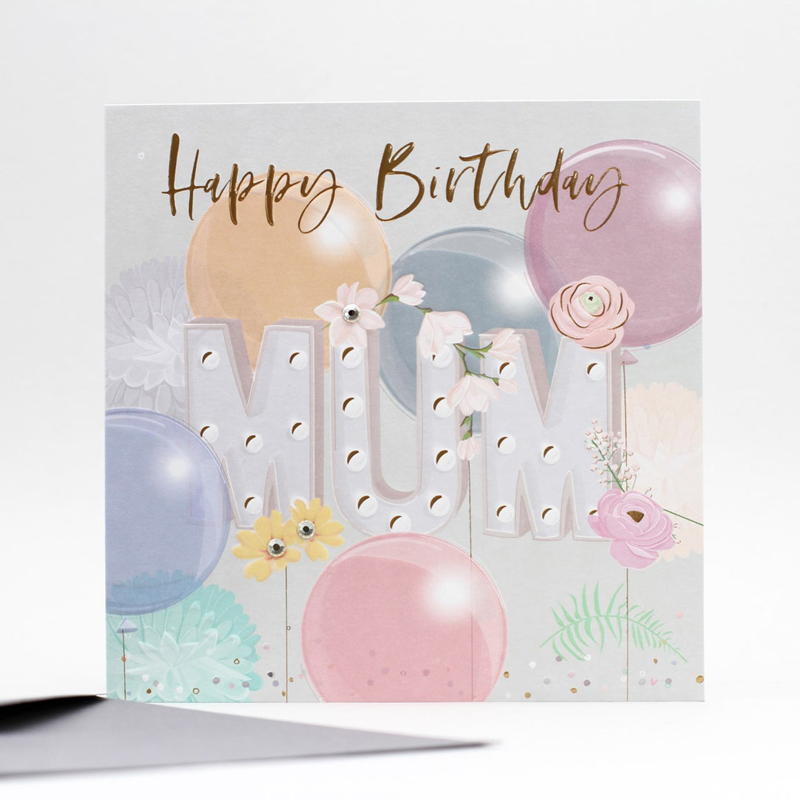 Belly Button Designs Happy Birthday Mum Card