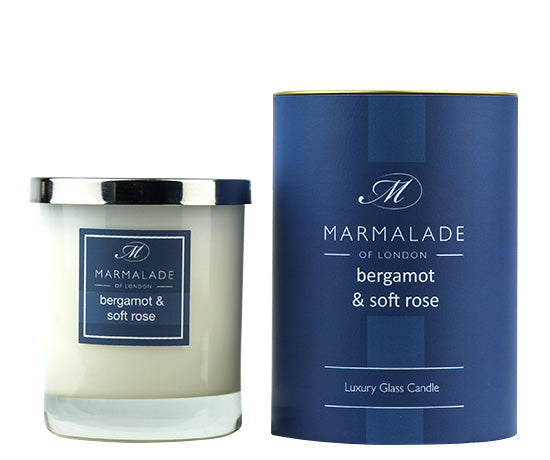 Marmalade of London Bergamot & Soft Rose Large Glass Candle 50 hrs