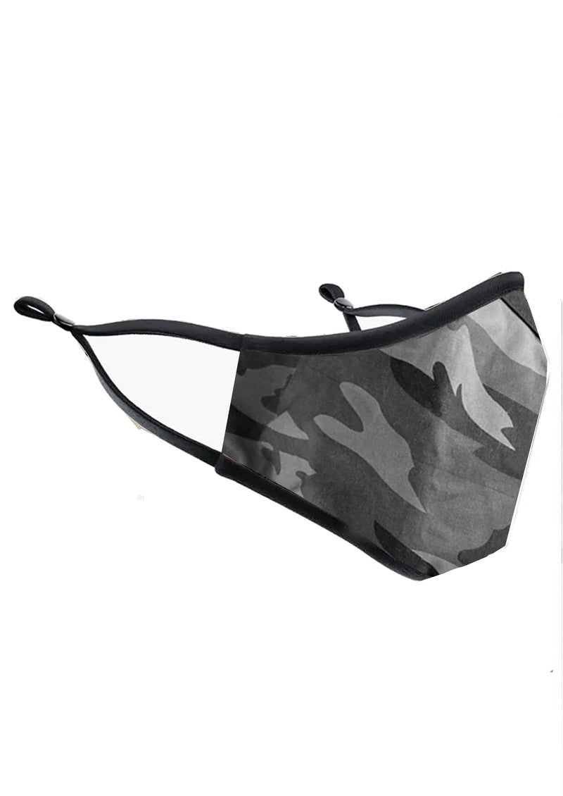 Breathe & Protect Organic Face Mask - Grey Camo