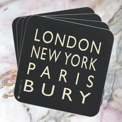 London New York Paris Bury Coaster