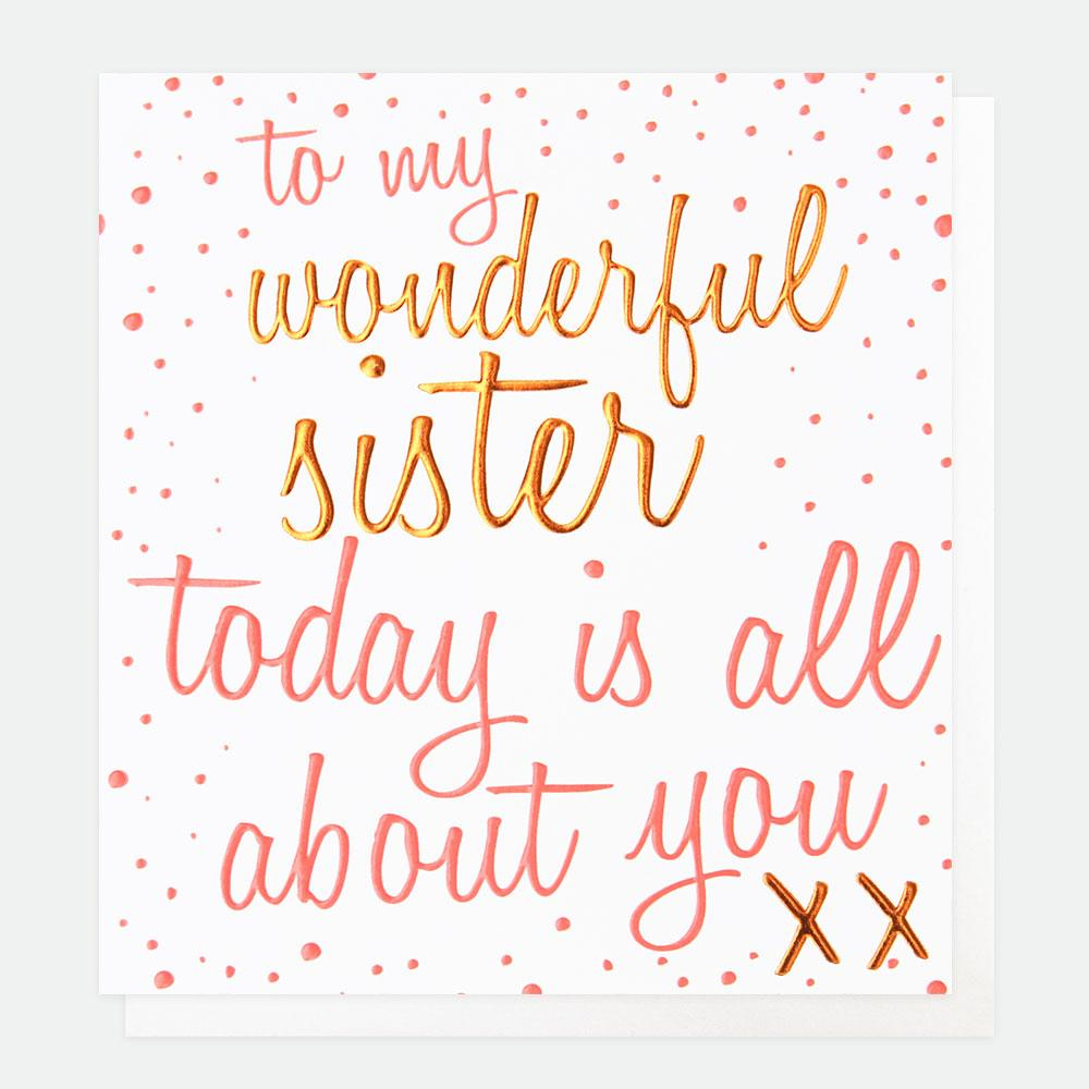Caroline Gardner Card, Sister, Today is all About You