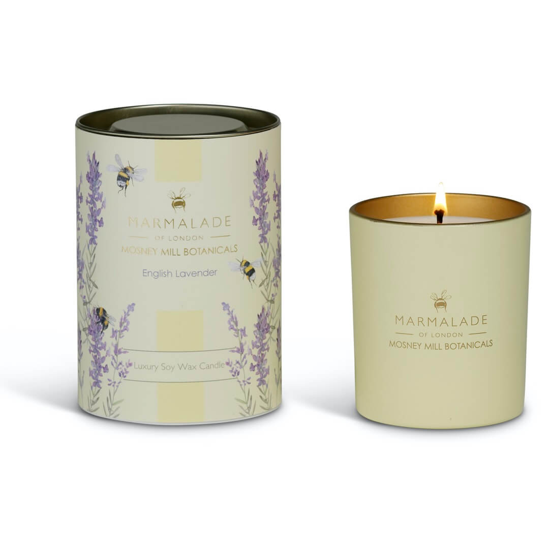 Mosney Mill English Lavender Large Glass Candle
