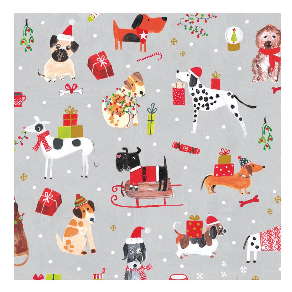 Pack of 20 Christmas Dog Napkins